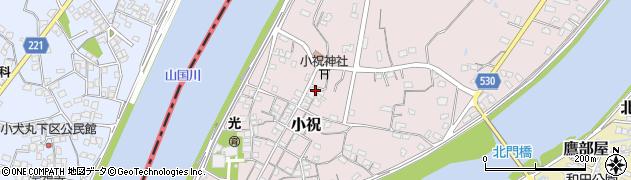 大分県中津市小祝507周辺の地図