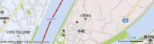 大分県中津市小祝296周辺の地図