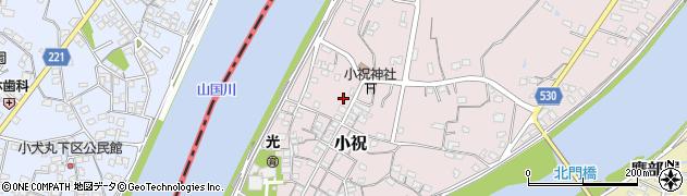 大分県中津市小祝571周辺の地図