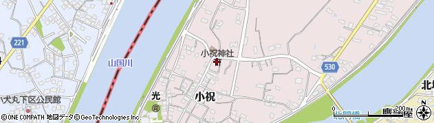 大分県中津市小祝508周辺の地図