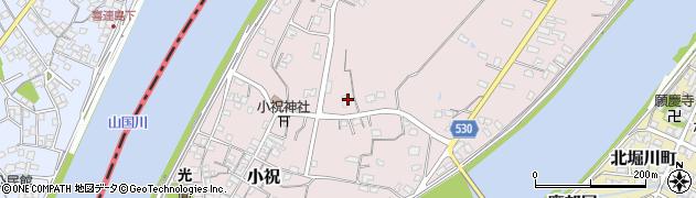 大分県中津市小祝645周辺の地図