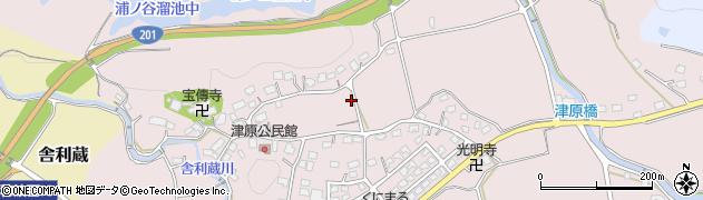 福岡県飯塚市津原周辺の地図