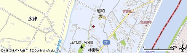 福岡県吉富町(築上郡)小犬丸周辺の地図