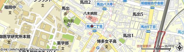 福岡県福岡市東区馬出2丁目周辺の地図