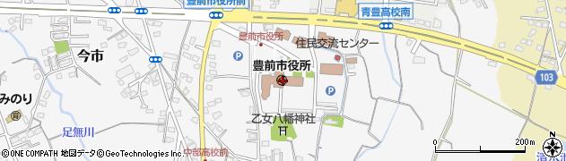 福岡県豊前市周辺の地図