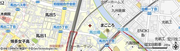 米田団地周辺の地図