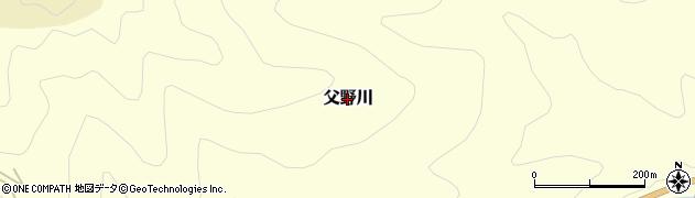 愛媛県久万高原町(上浮穴郡)父野川周辺の地図