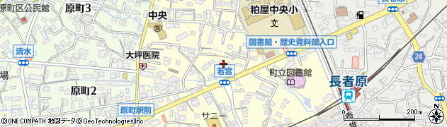 福岡県粕屋町(糟屋郡)若宮周辺の地図