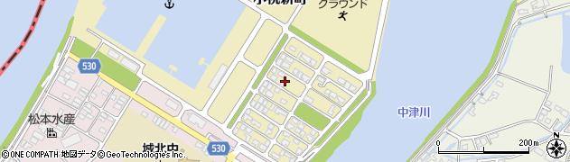 大分県中津市小祝新町周辺の地図