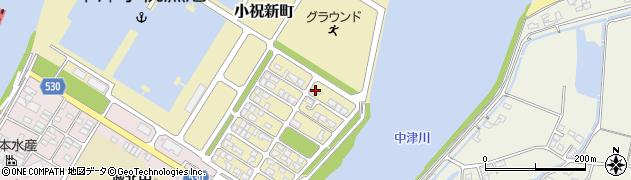 大分県中津市小祝新町57周辺の地図