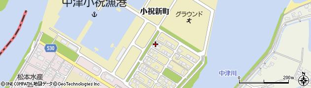 大分県中津市小祝新町44周辺の地図