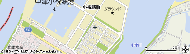 大分県中津市小祝新町50周辺の地図