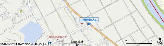 ローソン嘉麻山野店周辺の地図