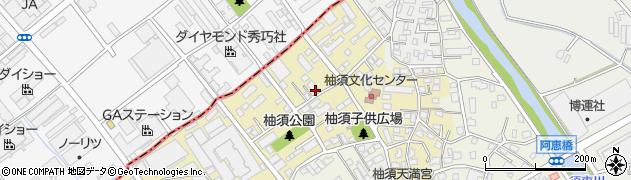 福岡県粕屋町(糟屋郡)柚須周辺の地図