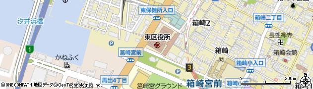 福岡県福岡市東区周辺の地図