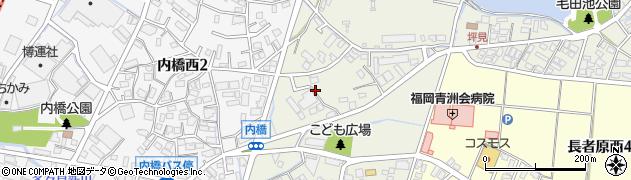 福岡県粕屋町(糟屋郡)内橋周辺の地図