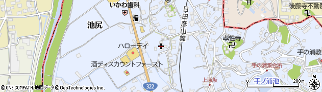 福岡県田川郡川崎町池尻小倉畔周辺の地図