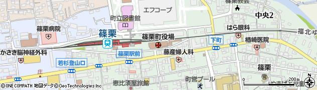 福岡県糟屋郡篠栗町周辺の地図