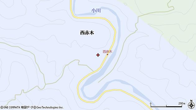〒649-4213 和歌山県東牟婁郡古座川町西赤木の地図