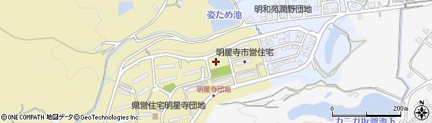 明星寺団地周辺の地図