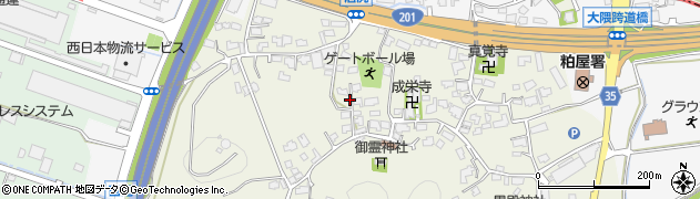 福岡県粕屋町(糟屋郡)大隈周辺の地図
