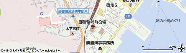 和歌山県東牟婁郡那智勝浦町周辺の地図
