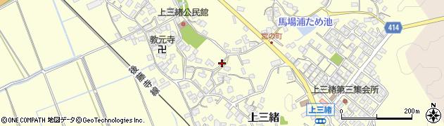 福岡県飯塚市上三緒周辺の地図
