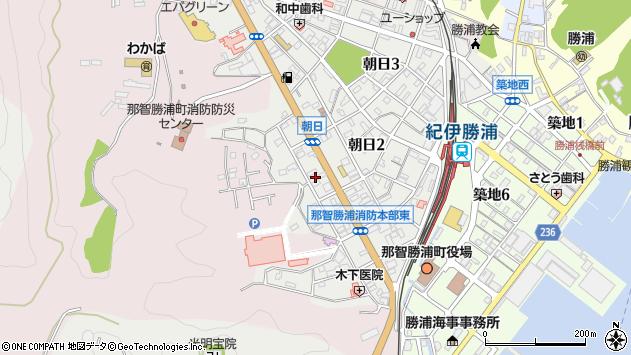 〒649-5332 和歌山県東牟婁郡那智勝浦町朝日の地図