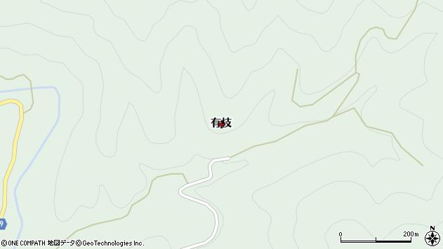 〒791-1505 愛媛県上浮穴郡久万高原町有枝の地図