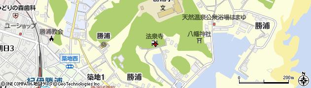 法泉寺周辺の地図