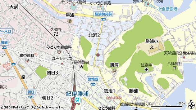 〒649-5333 和歌山県東牟婁郡那智勝浦町北浜の地図