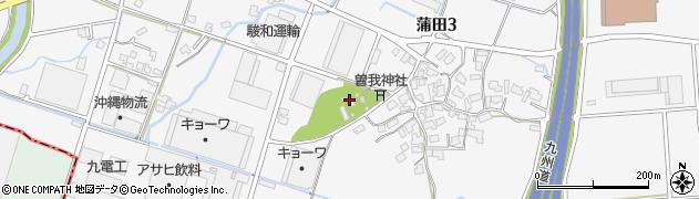 部木八幡宮周辺の地図