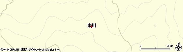 愛媛県久万高原町(上浮穴郡)東川周辺の地図