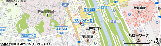 福岡県飯塚市吉原町周辺の地図