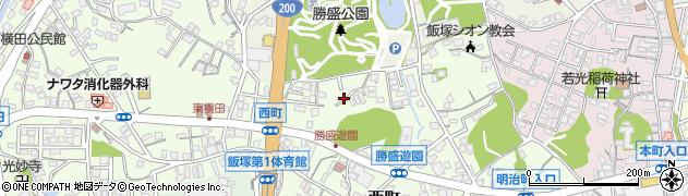 福岡県飯塚市西町周辺の地図
