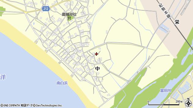 〒649-2333 和歌山県西牟婁郡白浜町中の地図