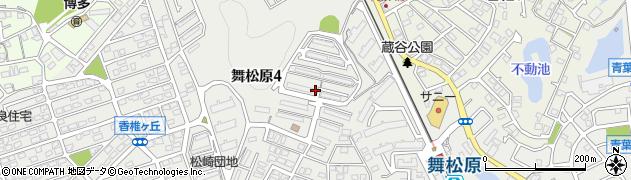 舞松原団地周辺の地図