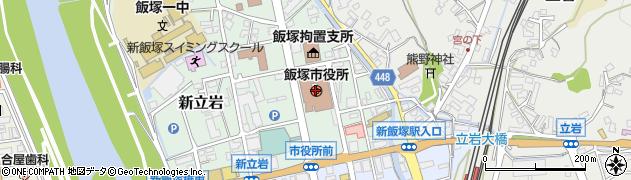 福岡県飯塚市周辺の地図