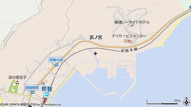 〒649-5314 和歌山県東牟婁郡那智勝浦町浜ノ宮の地図