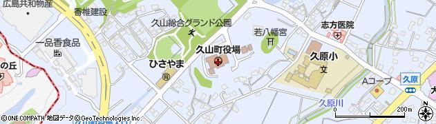 福岡県久山町(糟屋郡)周辺の地図