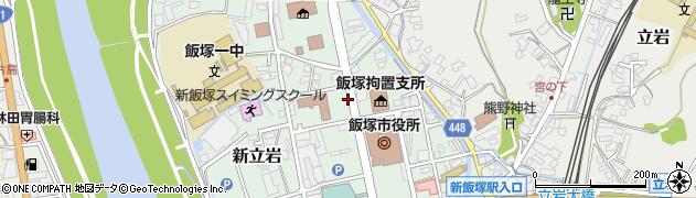 飯塚裁判所周辺の地図