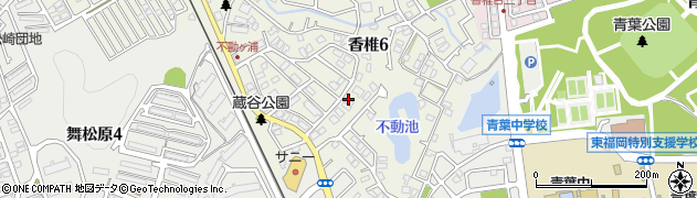 福岡県福岡市東区香椎6丁目周辺の地図