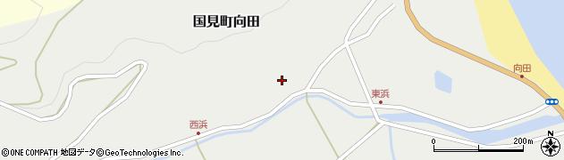 大分県国東市国見町向田166周辺の地図