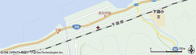 愛媛県伊予市双海町串(下浜)周辺の地図