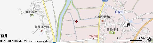 福岡県飯塚市仁保周辺の地図