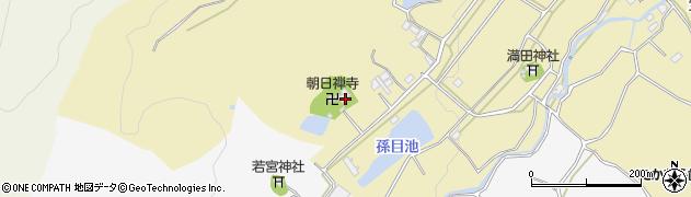朝日寺周辺の地図