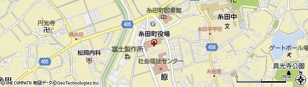 福岡県田川郡糸田町周辺の地図
