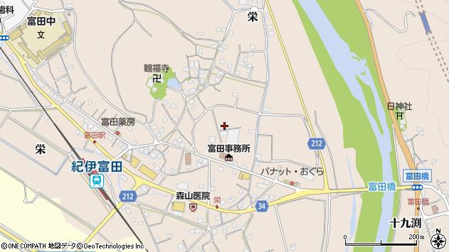 〒649-2332 和歌山県西牟婁郡白浜町栄の地図