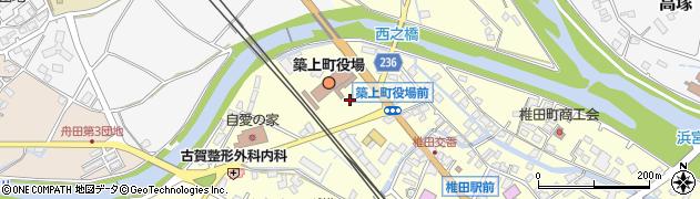福岡県築上郡築上町周辺の地図