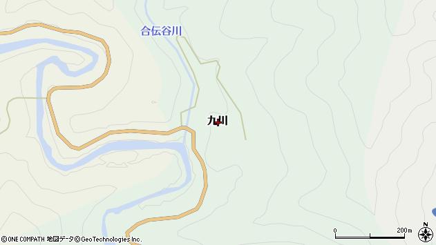 〒646-1334 和歌山県田辺市九川の地図